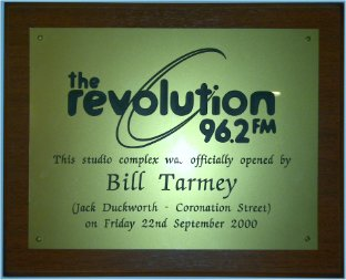 96.2 The Revolution - Officially opened by Bill Tarmey in 2000